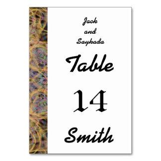 Einzigartige Hochzeits-Schablonen-Tabellen-Karten