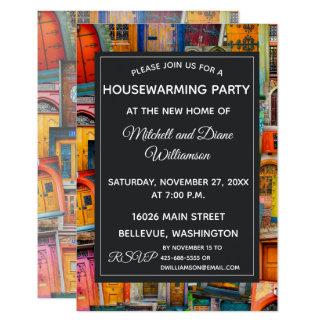 Einzigartige Housewarming-Party Einladungs-Türen Karte