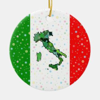 Einzigartige Karte der italienischen Keramik Ornament