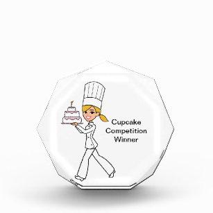 Einzigartige Mädchen-Kochs-Illustration Auszeichnung