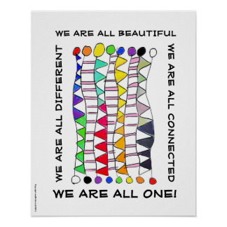 Einzigartige schöne u. eine Diversityfeier Poster