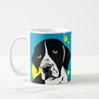 Einzigartige Schwarzweiss-Zeiger-HundeTassen Kaffeetasse