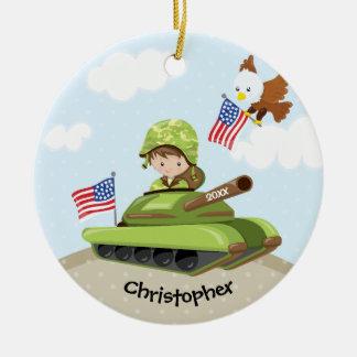 Einzigartige Soldat-Jungen-Weihnachtsverzierung Keramik Ornament