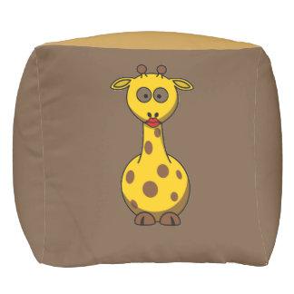 Einzigartige und elegante Baby-Giraffe Rauminhalt Kubus Sitzpuff