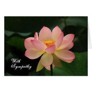 Einzigartiger rosa Lotos-buddhistisches mit Grußkarte