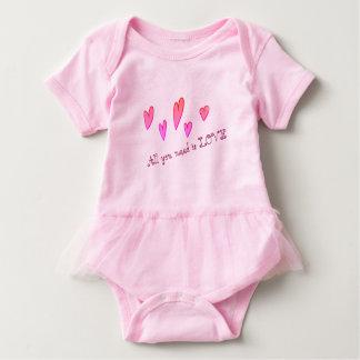 Einzigartiger stilvoller Liebe-Babytutu-Bodysuit Baby Strampler