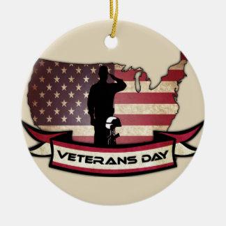 Einzigartiger Veteranen-Tag ehrt Kreis-Verzierung Keramik Ornament