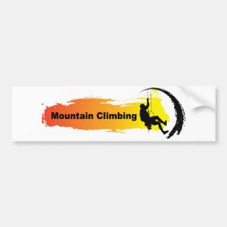 Einzigartiges Bergsteigen Autoaufkleber