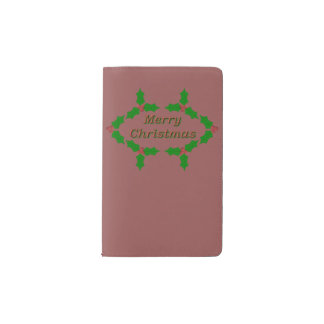 Einzigartiges Stechpalmen-Blätter Moleskine Taschennotizbuch