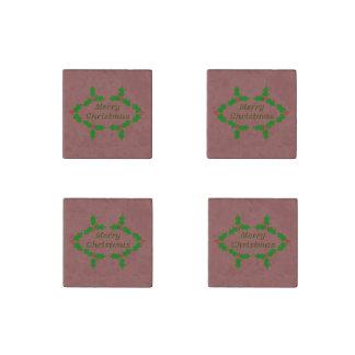 Einzigartiges Stechpalmen-Blätter Steinmagnet