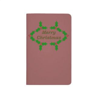 Einzigartiges Stechpalmen-Blätter Taschennotizbuch