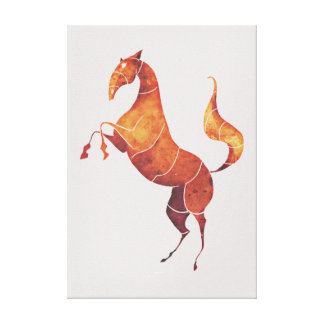 einzigartiges stilisiertes Pferd Leinwanddruck