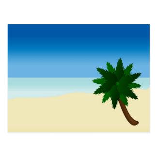 einzige Palme Postkarte