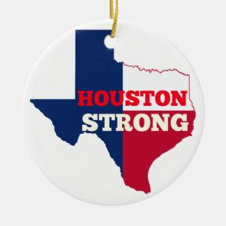 "Einziger Stern ""Houston stark "" Keramik Ornament"