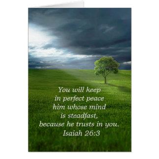 Einziges Baum-Vertrauen im Lord Praying für Sie Karte