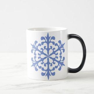 Eis-Blau-Schneeflocke-Winter-Schnee Verwandlungstasse