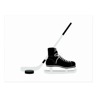 Eis-Hockey-Skate Postkarte