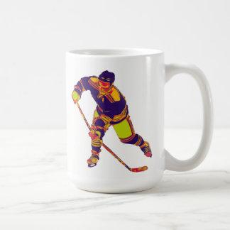 Eis-Hockey-Spieler (Mehrfarben), personalisierte Kaffeetasse