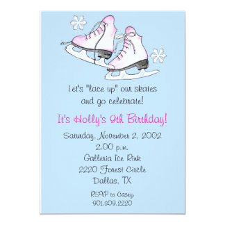 Eis-Skate-Einladungen Karte