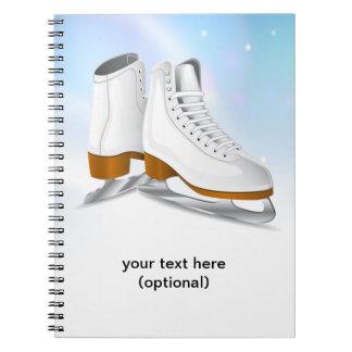 Eis-Skate-Notizbuch Spiral Notizbuch