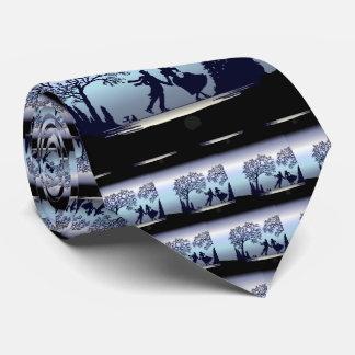 Eis-Skaten im Park - Silhouette Individuelle Krawatten