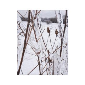 Eis-Sturm-Foto-Leinwand-Kunst-Druck Michigan Leinwanddruck