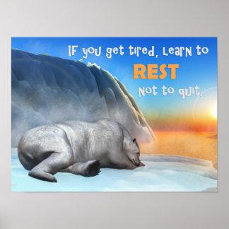 Eisbär - 3D übertragen Poster