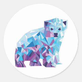 Eisbär-Aufkleber Runder Aufkleber