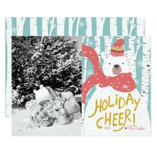 Eisbär-Feiertags-Beifall-Weihnachtskarte 12,7 X 17,8 Cm Einladungskarte