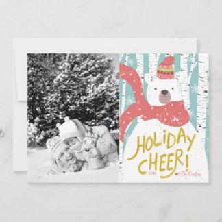 Polar Bear Holiday Cheer Christmas Card