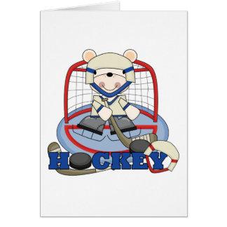 Eisbär-Hockey-Tormann-T-Shirts und Geschenke Grußkarte