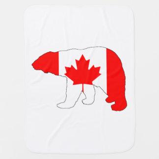 """Eisbär """"Kanada """" Babydecke"""