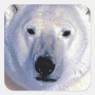 Eisbär Quadratischer Aufkleber