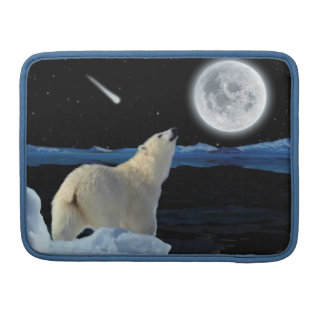 Eisbär u. arktischer Mond 2 Macbook Sleeve Für MacBook Pro