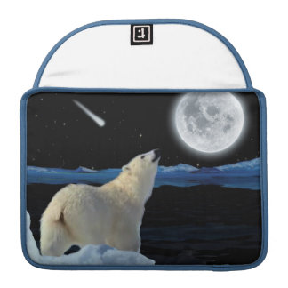 Eisbär u. arktischer Mond 2 Macbook Sleeve Für MacBooks