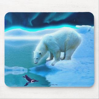 Eisbär-u. Pinguin-arktische Tier-Kunst Mousepad