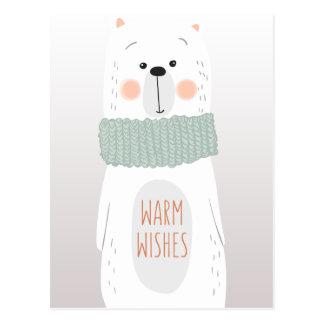 Eisbär - wärmen Sie Wünsche - Postkarte