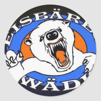 Eisbären-Artikel Runder Aufkleber