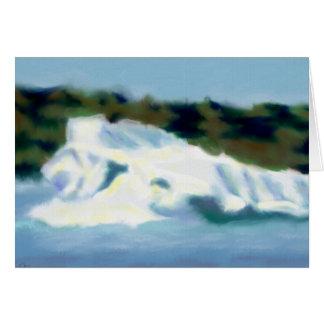 Eisberg-Kunst Karte