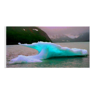 Eisberg, Portage See, AK Poster