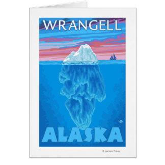 Eisberg-Querschnitt - Wrangell, Alaska Karte