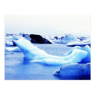 Eisberge an Jokulsarlon Lagune Postkarte