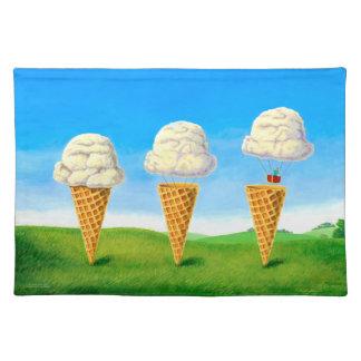 Eiscreme-Floss Tischset
