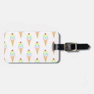 Eiscreme mit besprüht - personalisierten kofferanhänger