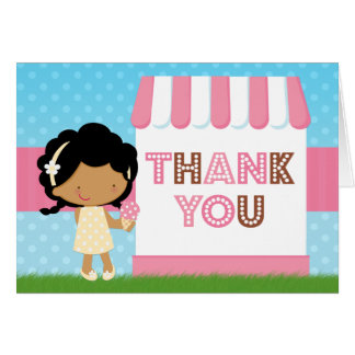 Eiscreme-Party danken Ihnen afrikanischer Karte