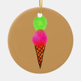 Eiscreme-Popkunst Keramik Ornament