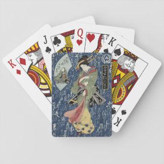 Eisen Geisha im grünen Kimono Spielkarten