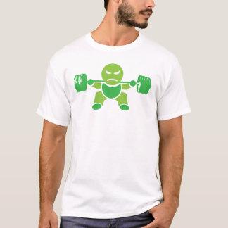 Eisen-Jungen-Bodybuilding - Hocke - Grün - Shirt