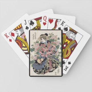 Eisen Ukiyo-e Geisha Spielkarten