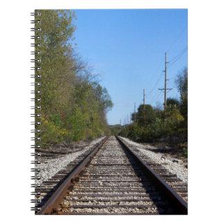Eisenbahn-Zug spürt Foto auf Notizblock